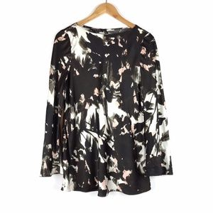 Lafayette 148 Long Sleeve Silk Blouse Medium